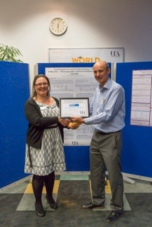 Nige presenting prize for RSC